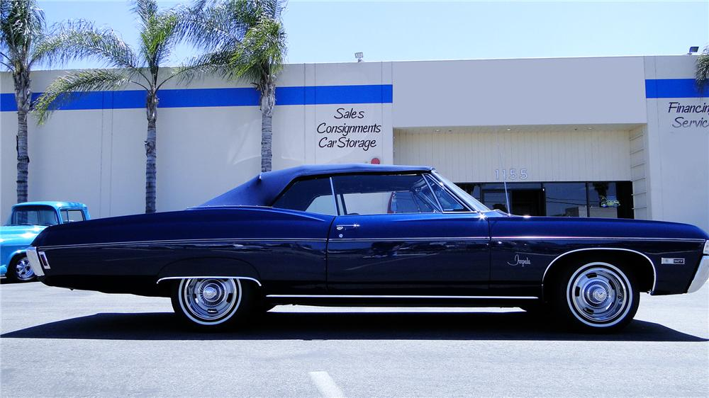 1968 CHEVROLET IMPALA CUSTOM CONVERTIBLE - Side Profile - 112812
