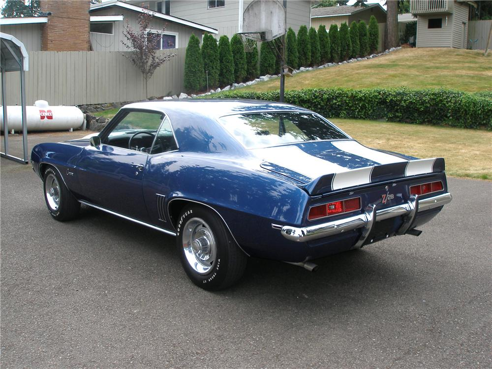 1969 CHEVROLET CAMARO COUPE - Rear 3/4 - 112814