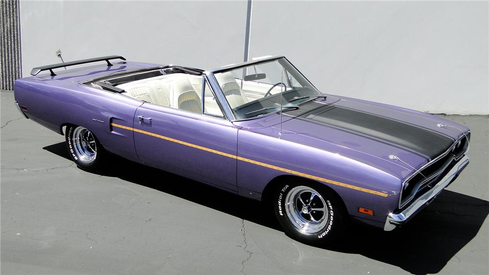 1970 PLYMOUTH ROAD RUNNER CONVERTIBLE - Front 3/4 - 112828