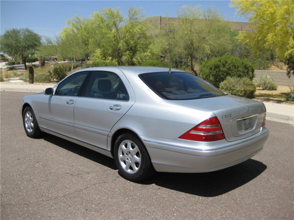 2000 MERCEDES-BENZ S500 4 DOOR SEDAN - Rear 3/4 - 112832