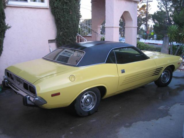 1973 DODGE CHALLENGER 2 DOOR HARDTOP - Rear 3/4 - 112841