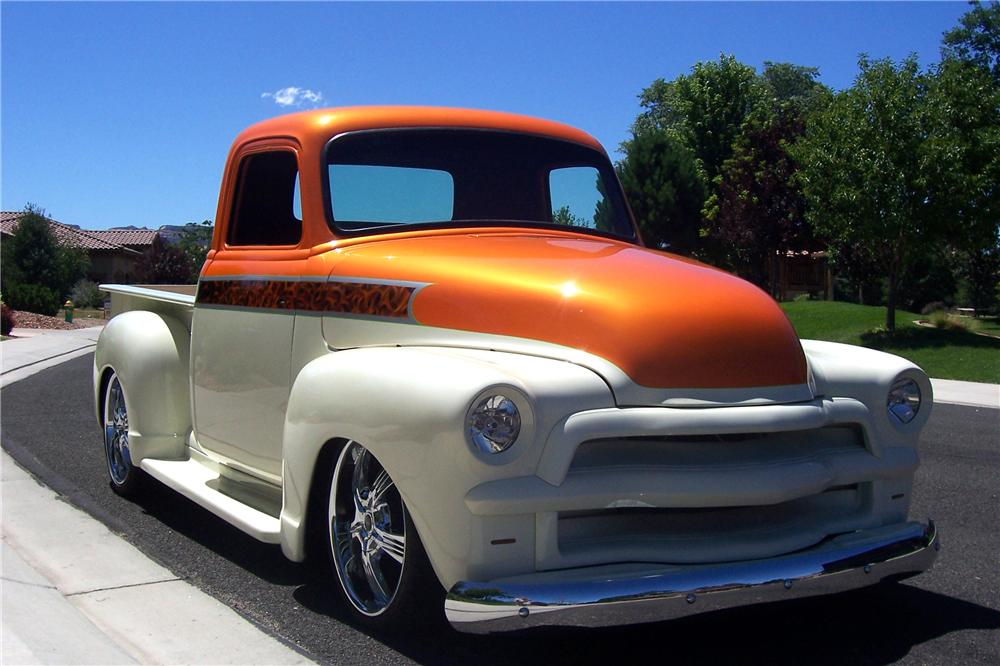 1954 CHEVROLET 3600 CUSTOM PICKUP - Front 3/4 - 112858