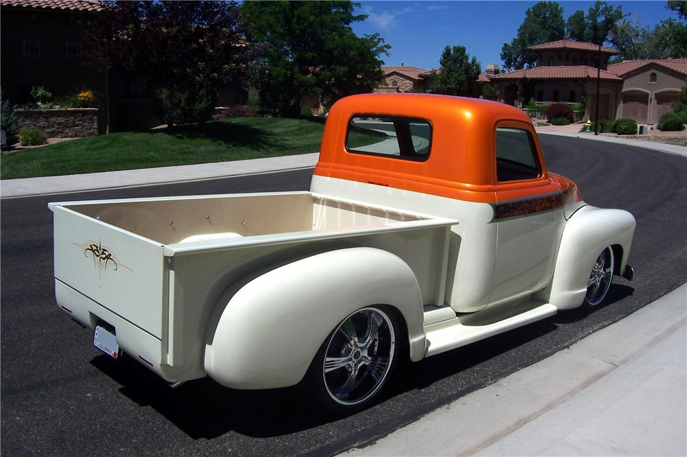 1954 CHEVROLET 3600 CUSTOM PICKUP - Rear 3/4 - 112858