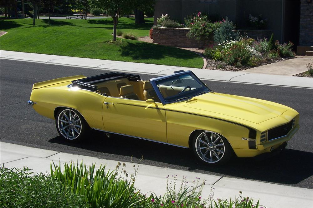 1969 CHEVROLET CAMARO CUSTOM CONVERTIBLE - Side Profile - 112859