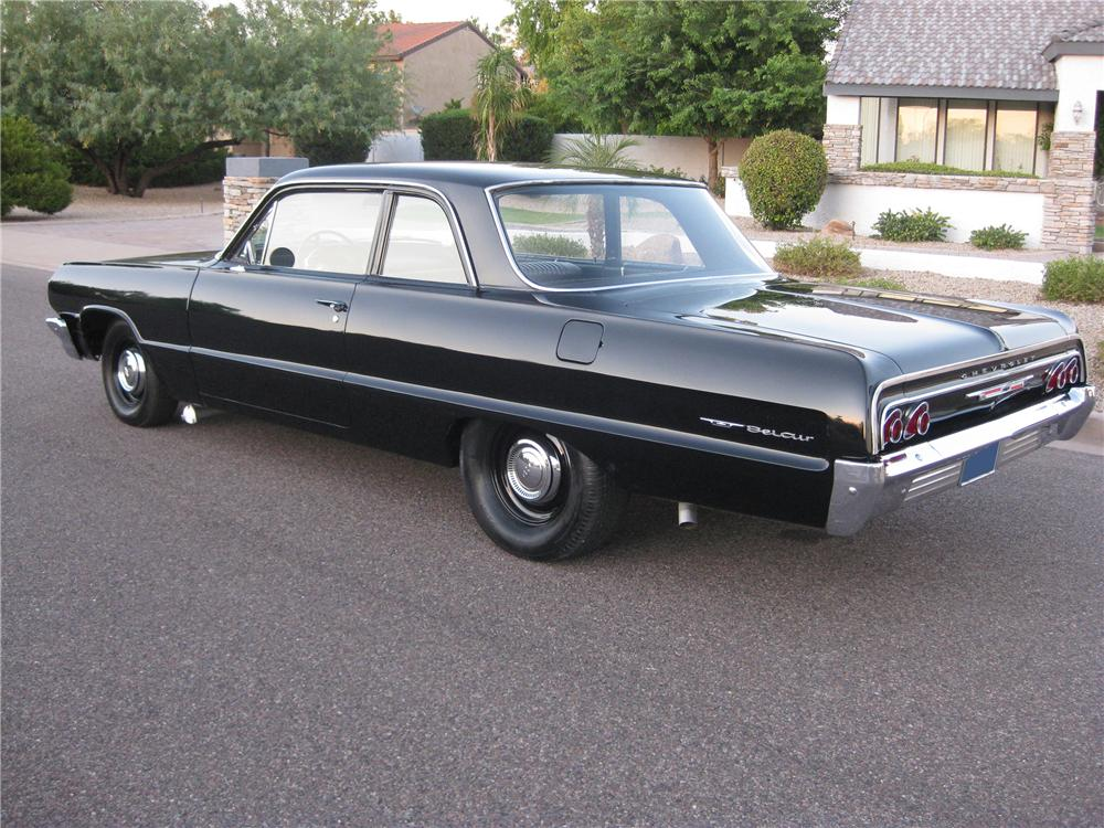 1964 CHEVROLET BEL AIR 2 DOOR SEDAN - Rear 3/4 - 112878