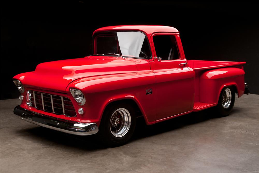 1956 CHEVROLET 3200 CUSTOM PICKUP - Front 3/4 - 112879