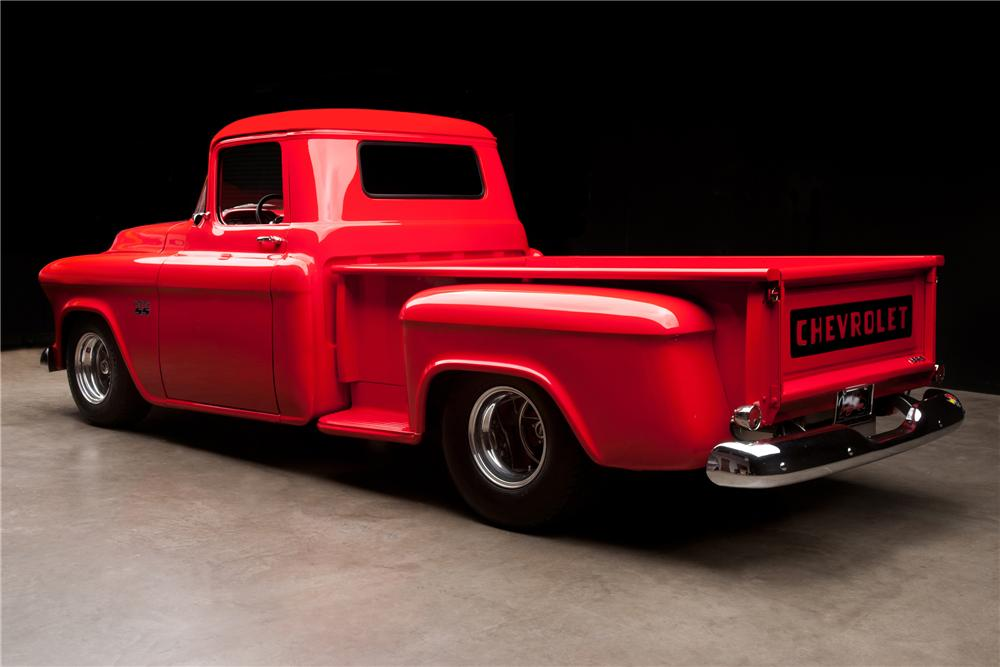 1956 CHEVROLET 3200 CUSTOM PICKUP - Rear 3/4 - 112879