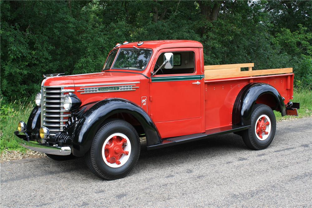 1948 DIAMOND T 201 PICKUP - Side Profile - 112902