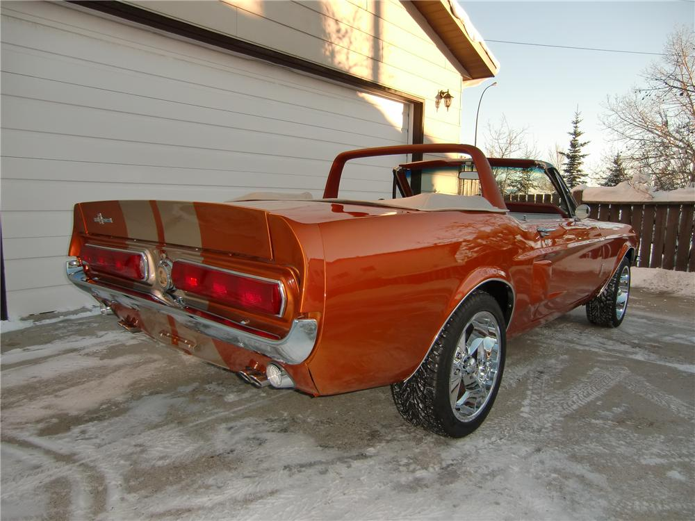 1968 FORD MUSTANG CUSTOM CONVERTIBLE - Rear 3/4 - 112915