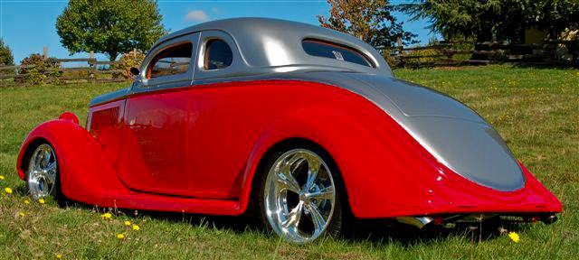 1935 FORD CUSTOM 2 DOOR COUPE - Rear 3/4 - 112917