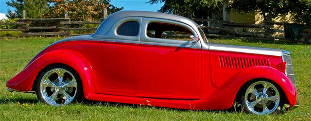 1935 FORD CUSTOM 2 DOOR COUPE - Side Profile - 112917