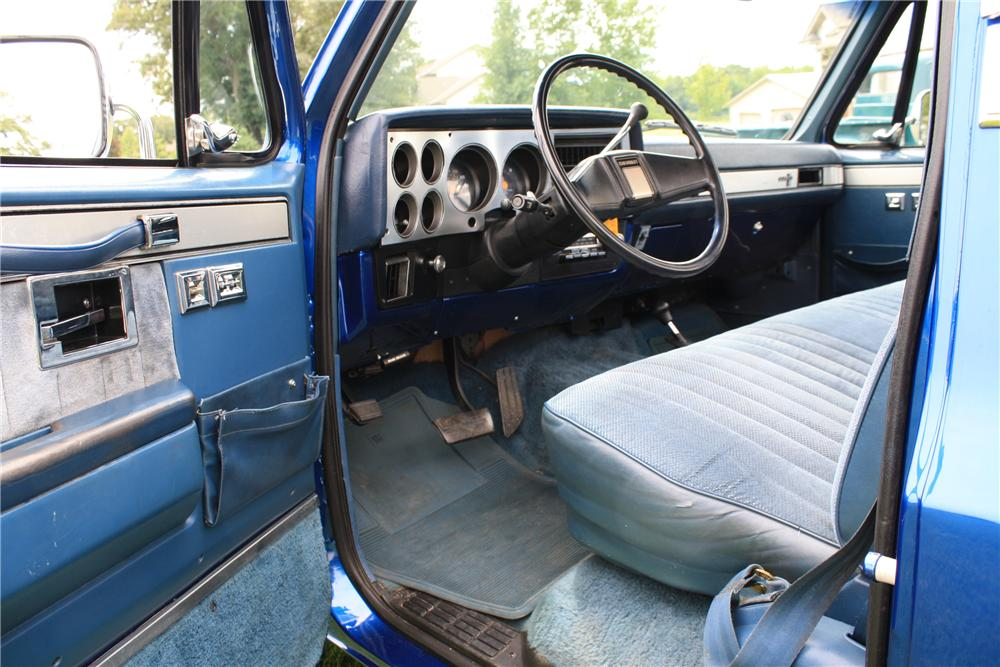 1987 CHEVROLET SILVERADO PICKUP - Interior - 112962