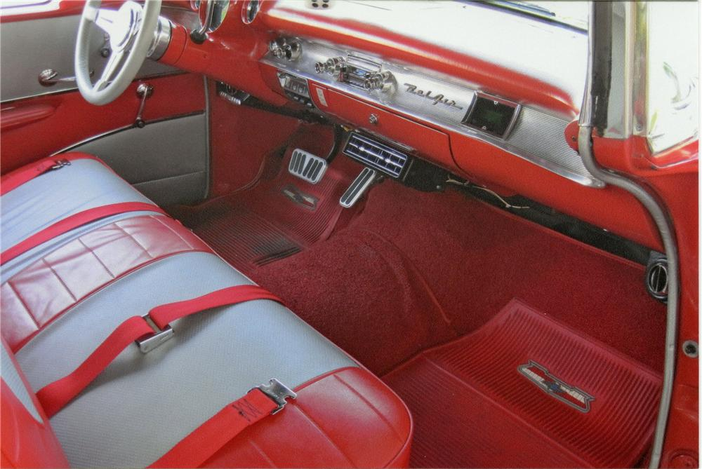 1957 CHEVROLET BEL AIR CUSTOM CONVERTIBLE - Interior - 112990