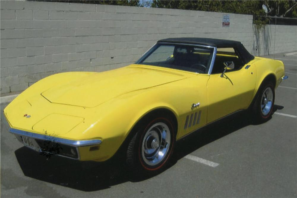 1969 CHEVROLET CORVETTE CONVERTIBLE - Side Profile - 113024