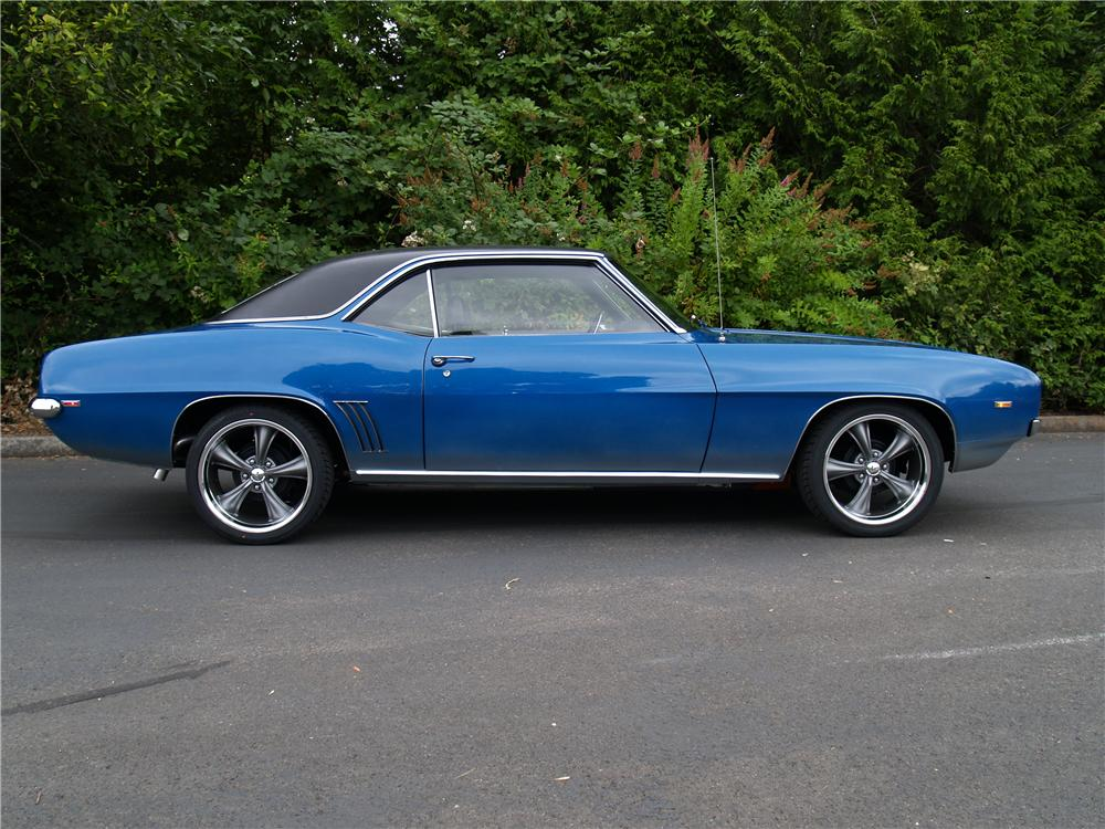 1969 CHEVROLET CAMARO COUPE - Side Profile - 113041