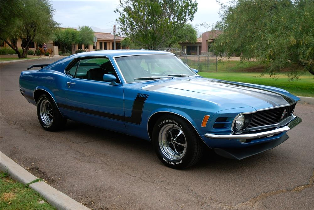 1970 FORD MUSTANG 2 DOOR FASTBACK - Front 3/4 - 113078