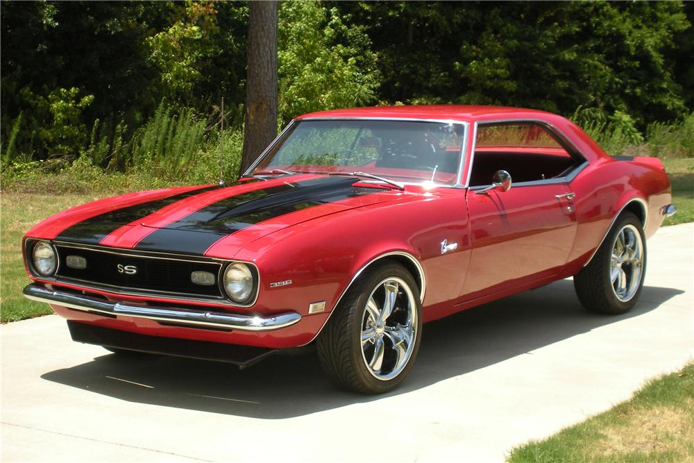 1968 CHEVROLET CAMARO CUSTOM COUPE - Front 3/4 - 113082
