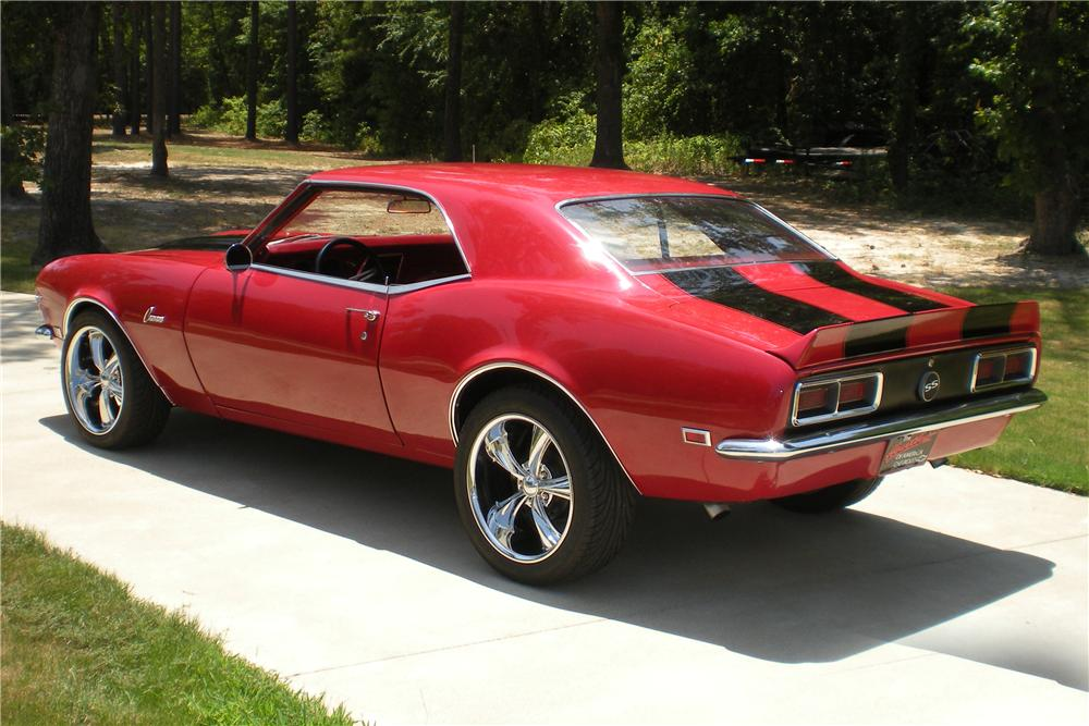 1968 CHEVROLET CAMARO CUSTOM COUPE - Rear 3/4 - 113082