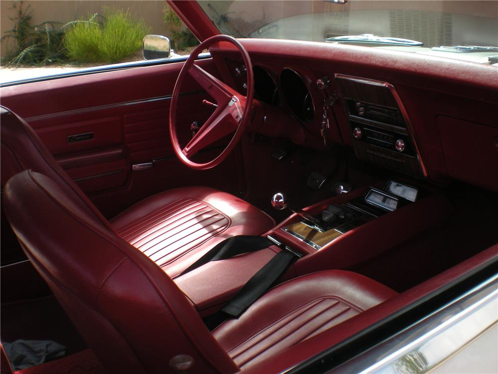 1968 CHEVROLET CAMARO SS 2 DOOR COUPE - Interior - 113085