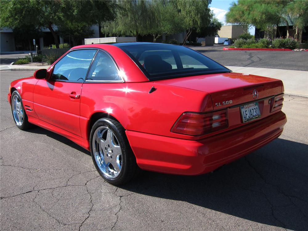 1999 MERCEDES-BENZ SL500 CONVERTIBLE - Rear 3/4 - 113087