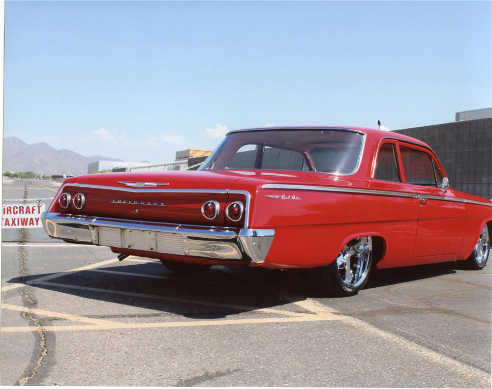 1962 CHEVROLET BEL AIR CUSTOM 2 DOOR SEDAN - Rear 3/4 - 113095