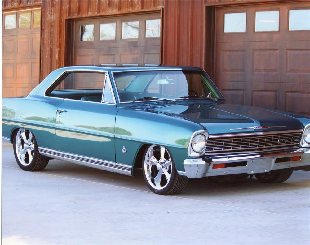 1966 CHEVROLET NOVA SS CUSTOM 2 DOOR SPORT COUPE - Front 3/4 - 113097