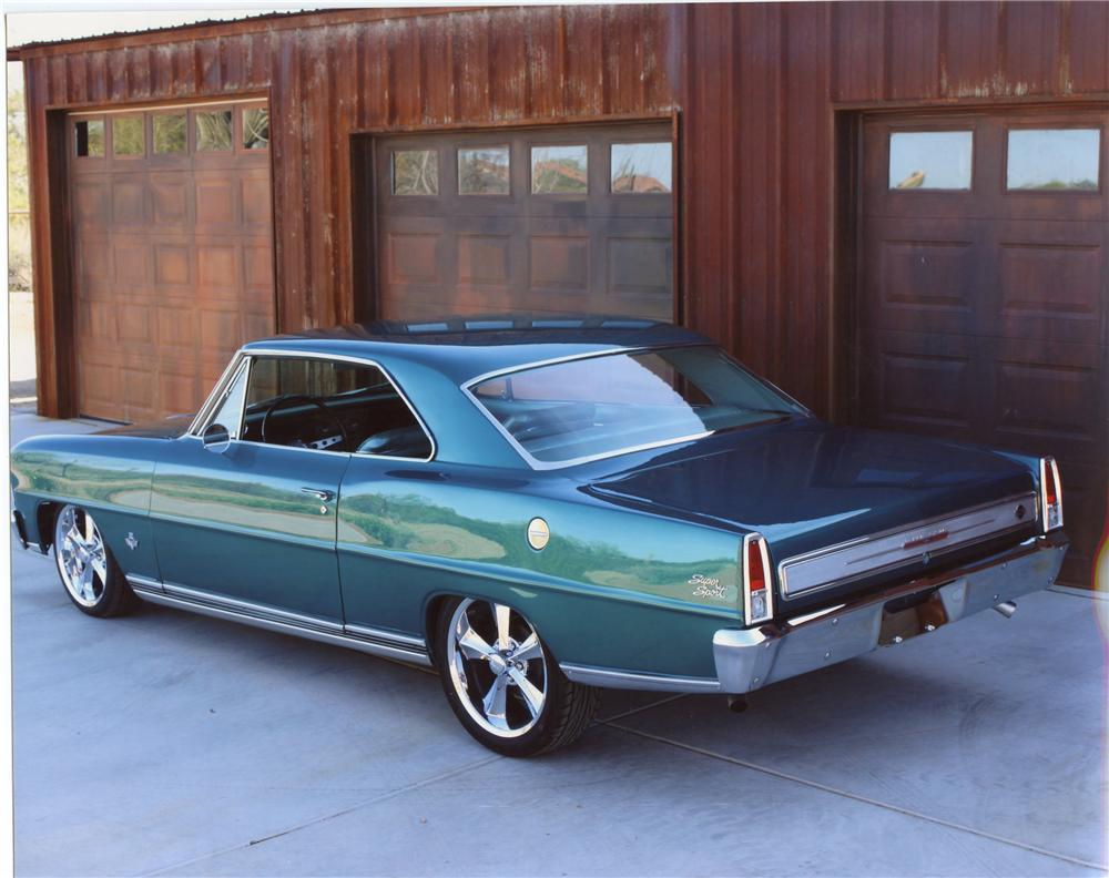 1966 CHEVROLET NOVA SS CUSTOM 2 DOOR SPORT COUPE - Rear 3/4 - 113097