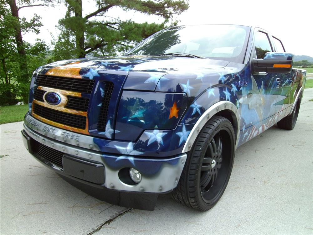 "2009 FORD F-150 CUSTOM ""FREEDOM"" TRUCK - Front 3/4 - 113128"
