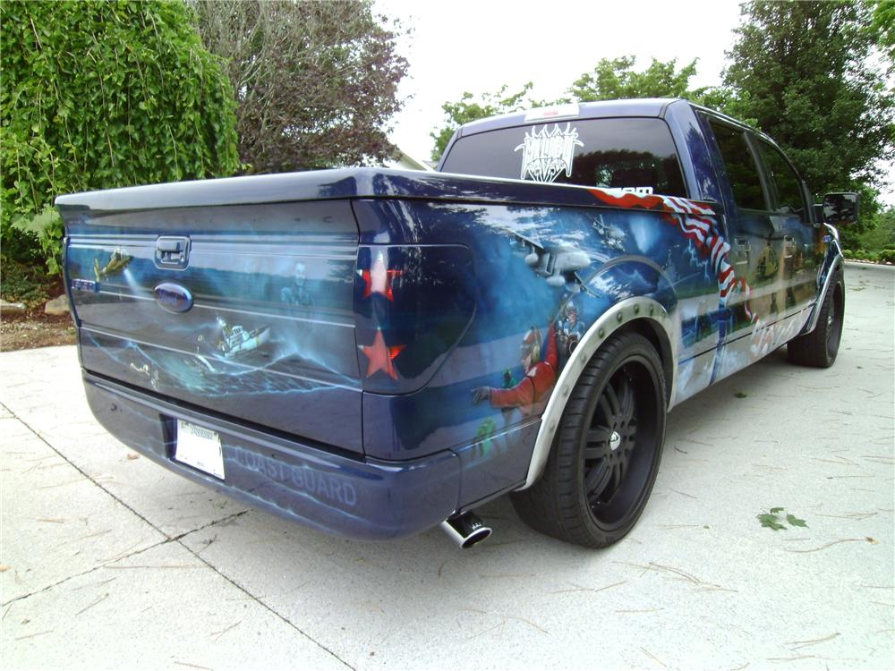 "2009 FORD F-150 CUSTOM ""FREEDOM"" TRUCK - Rear 3/4 - 113128"