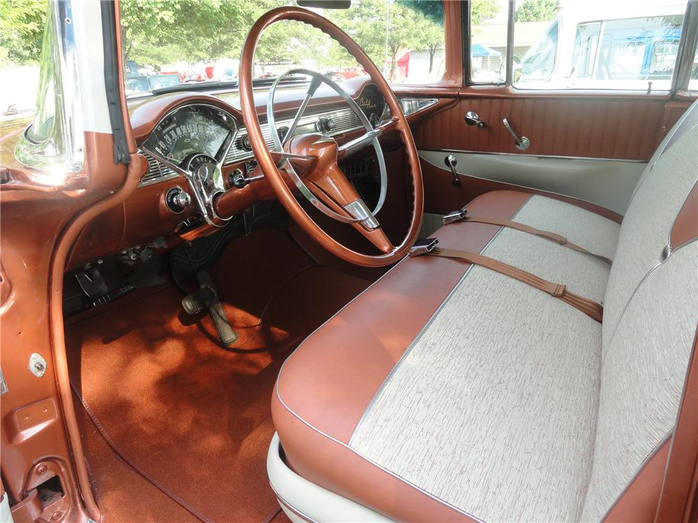 1956 CHEVROLET BEL AIR 4 DOOR HARDTOP - Interior - 113233