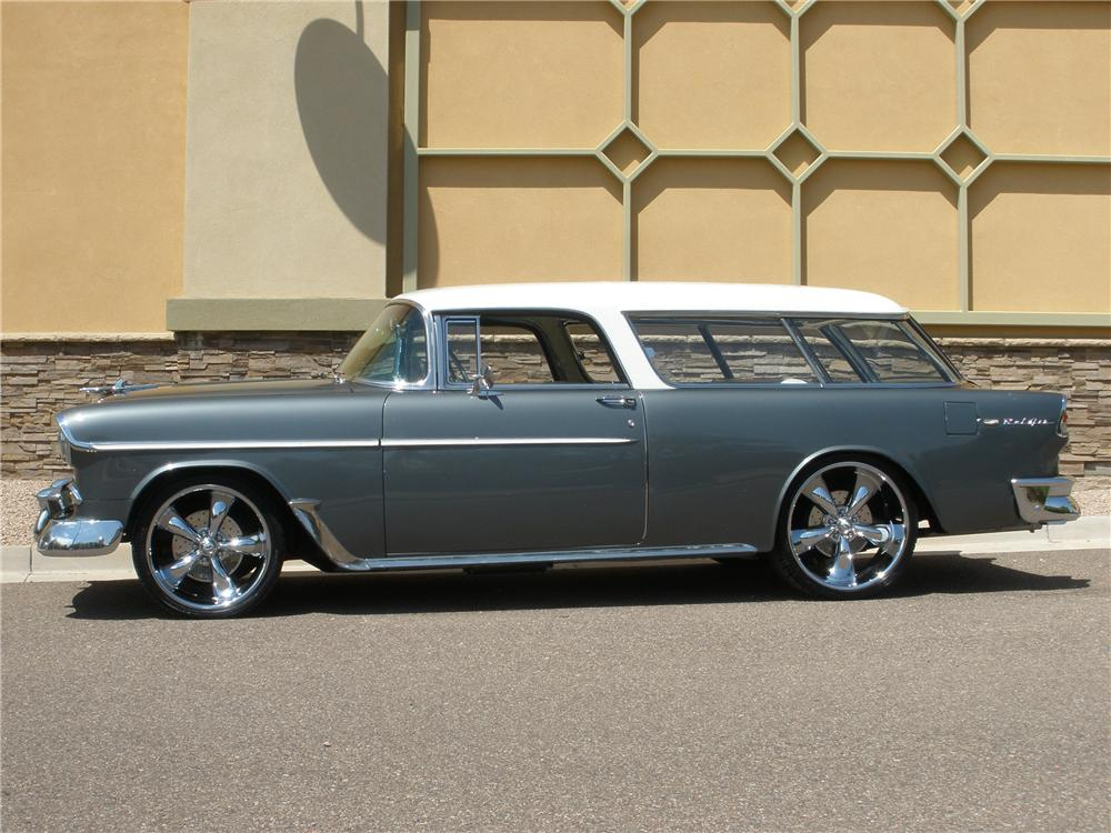 1955 CHEVROLET NOMAD CUSTOM 2 DOOR WAGON - Side Profile - 113234