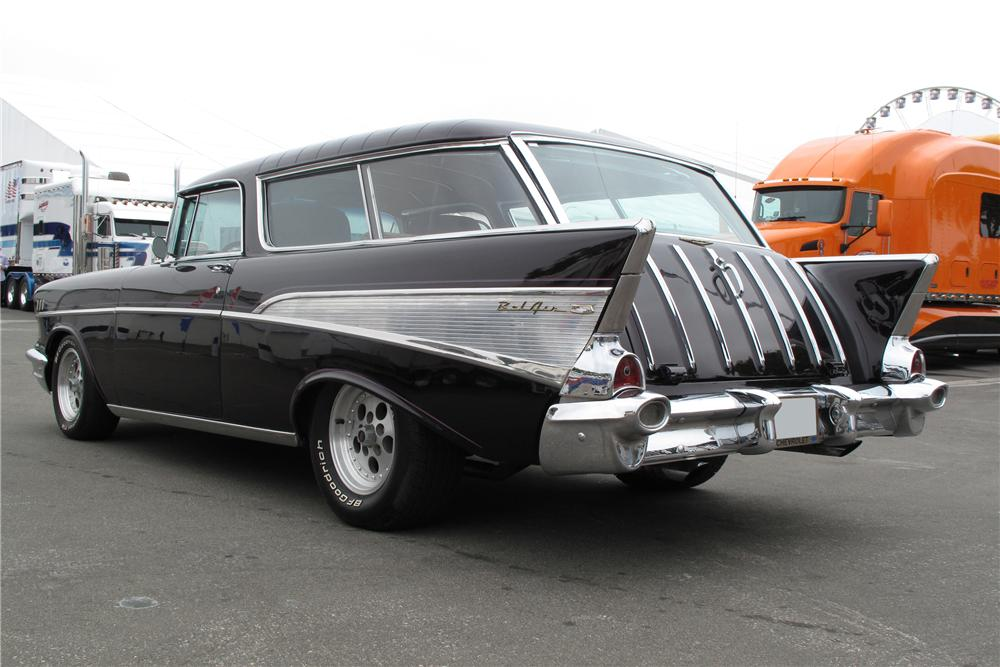 1957 CHEVROLET NOMAD CUSTOM STATION WAGON - Rear 3/4 - 113244