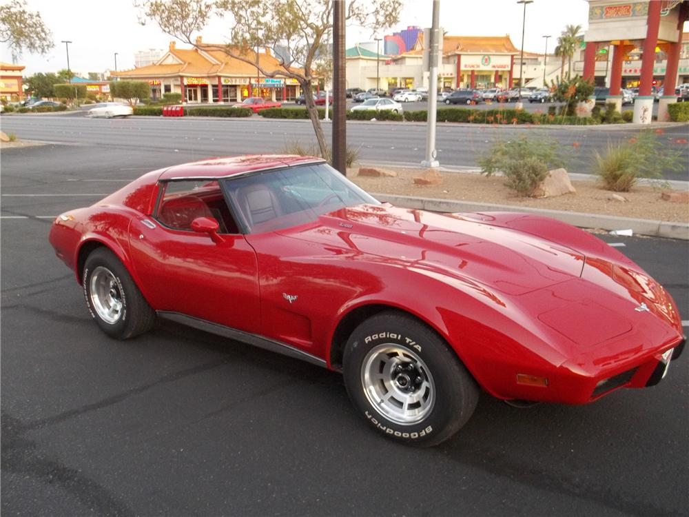 1977 CHEVROLET CORVETTE 2 DOOR COUPE - Front 3/4 - 113374