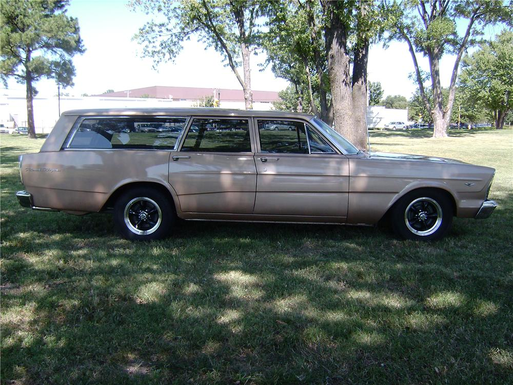 1966 FORD RANCH WAGON 4 DOOR STATION WAGON - Side Profile - 113378