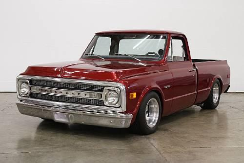 1969 CHEVROLET C-10 CUSTOM PICKUP - Front 3/4 - 113379