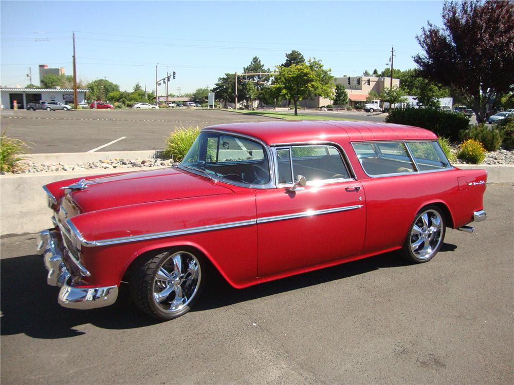 1955 CHEVROLET NOMAD CUSTOM STATION WAGON - Front 3/4 - 113403