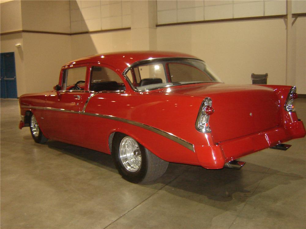 1956 CHEVROLET 210 CUSTOM 2 DOOR SEDAN - Rear 3/4 - 113414