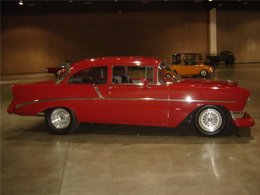 1956 CHEVROLET 210 CUSTOM 2 DOOR SEDAN - Side Profile - 113414