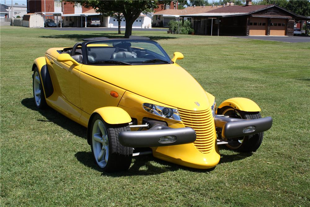 1999 PLYMOUTH PROWLER CONVERTIBLE - Front 3/4 - 113418
