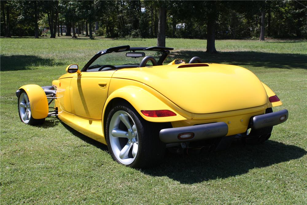 1999 PLYMOUTH PROWLER CONVERTIBLE - Rear 3/4 - 113418