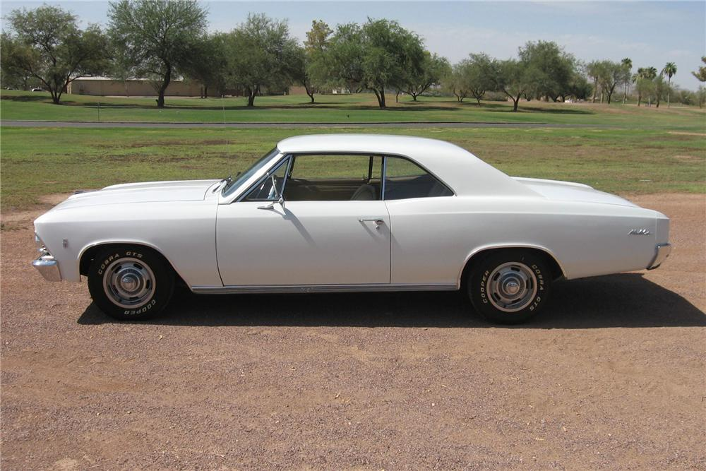 1966 CHEVROLET CHEVELLE 2 DOOR HARDTOP - Side Profile - 113433