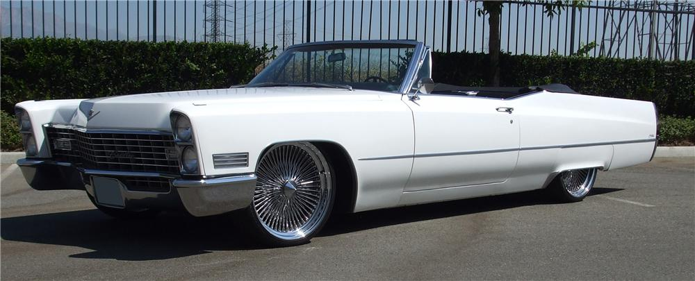 1967 CADILLAC DE VILLE CUSTOM CONVERTIBLE - Side Profile - 113441