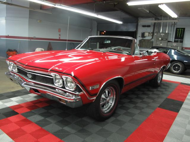 1968 CHEVROLET CHEVELLE MALIBU SS CONVERTIBLE - Front 3/4 - 113452