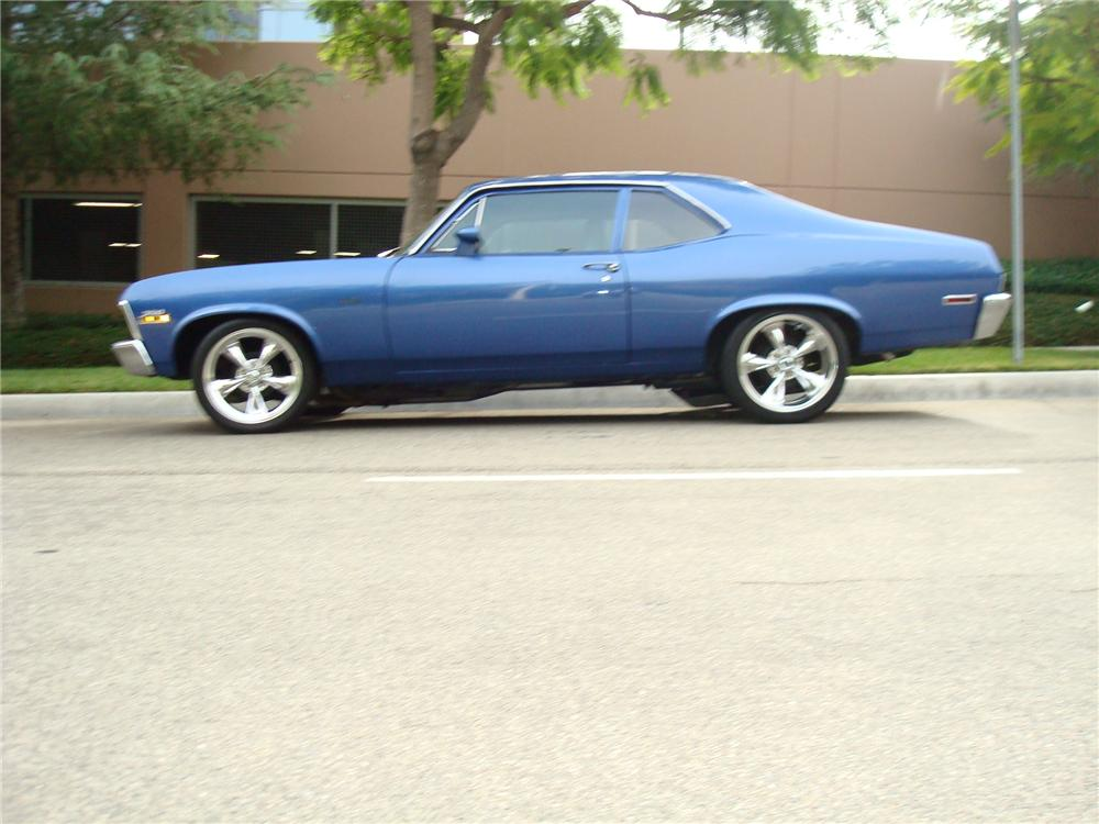 1972 CHEVROLET NOVA CUSTOM 2 DOOR COUPE - Side Profile - 113456