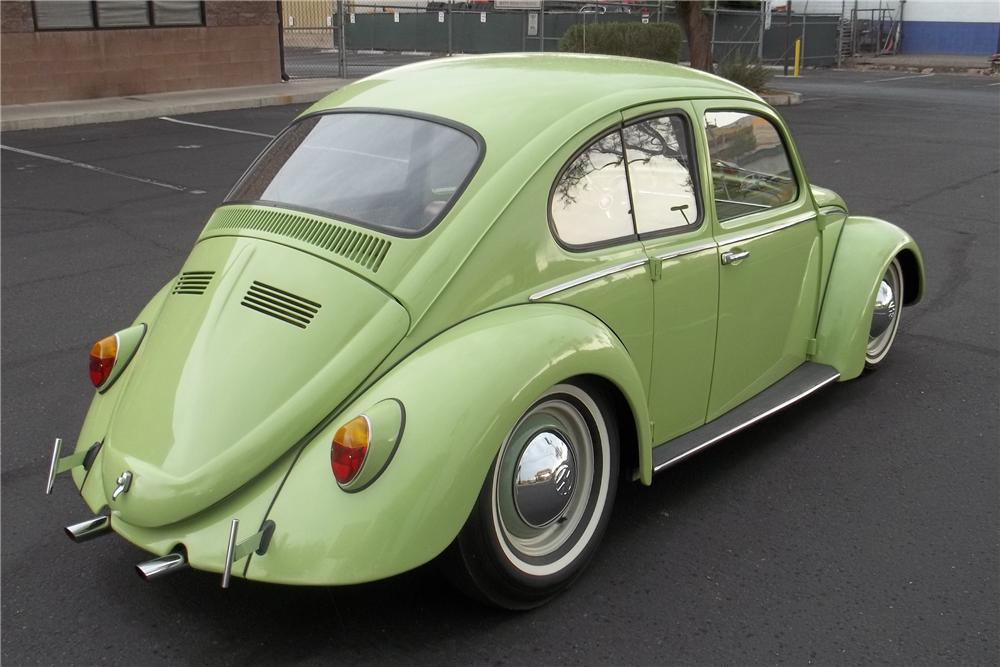 1966 VOLKSWAGEN BEETLE CUSTOM SUICIDE DOOR SEDAN - Rear 3/4 - 113470