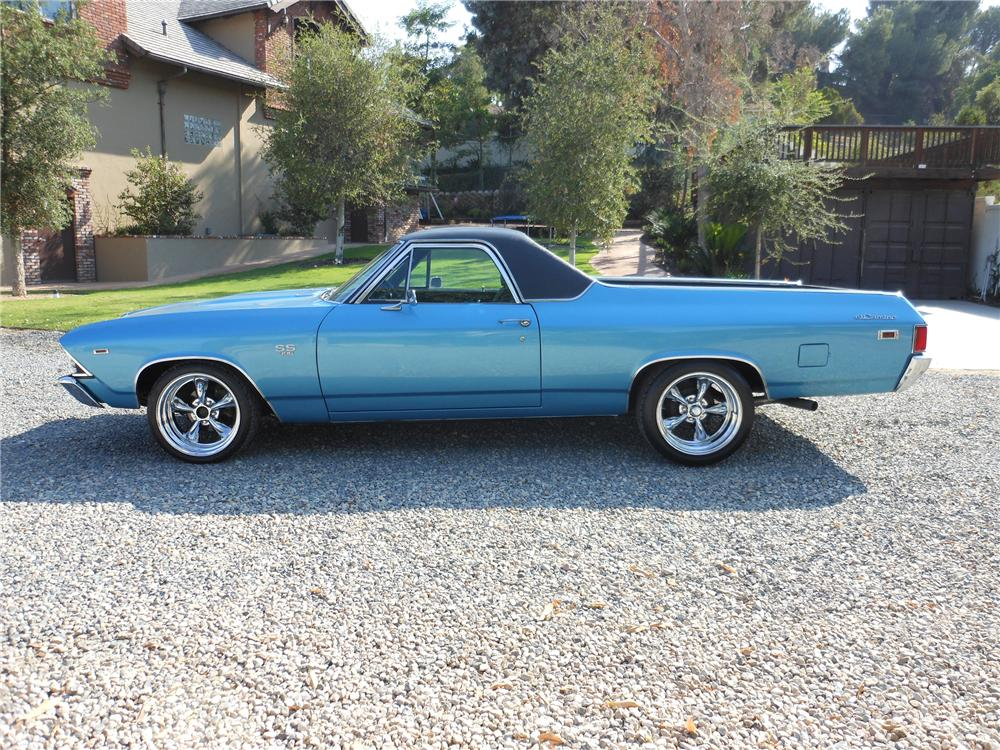 1969 CHEVROLET EL CAMINO SS PICKUP - Side Profile - 113553