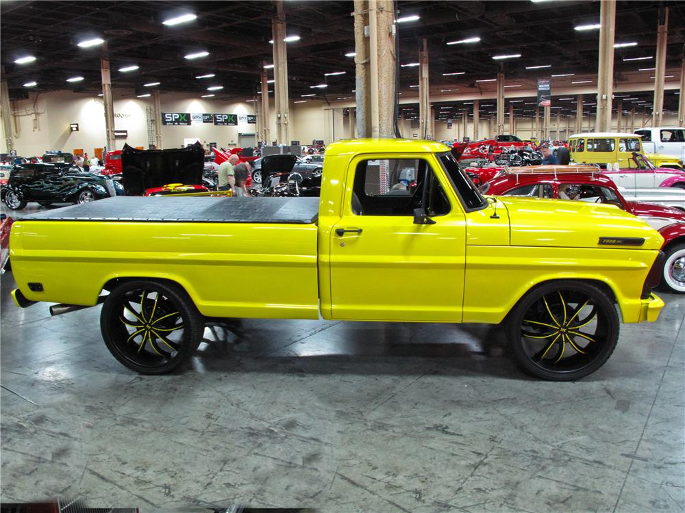 1969 FORD F-100 CUSTOM PICKUP - Side Profile - 113853