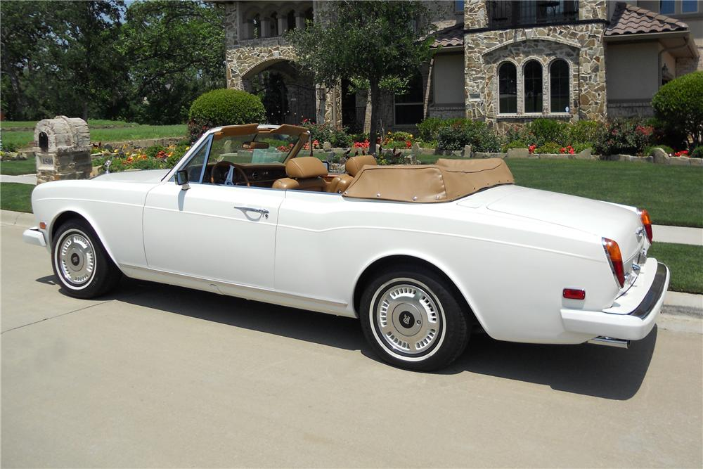 1978 ROLLS-ROYCE CORNICHE 2 DOOR CONVERTIBLE - Rear 3/4 - 113953