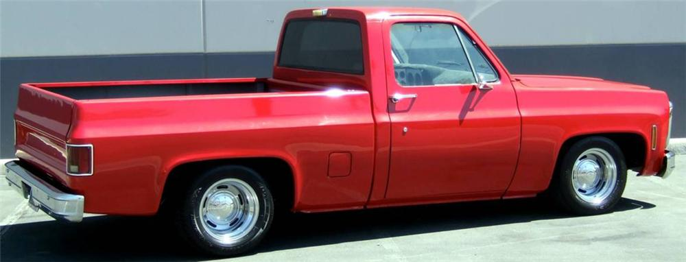 1980 CHEVROLET C-10 CUSTOM SHORT BED PICKUP - Rear 3/4 - 114573