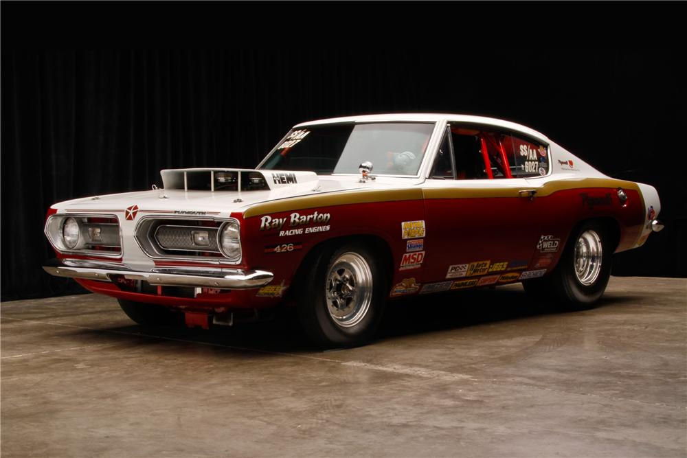1968 PLYMOUTH BARRACUDA SUPER STOCK FASTBACK - Front 3/4 - 114602